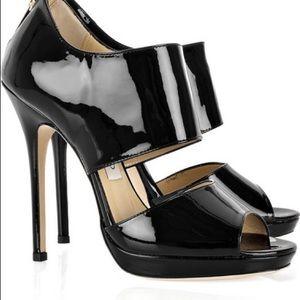 Jimmy Choo Private black patent leather sandal